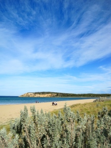 The Bluff, Barwon Heads, from RAAFs Beach