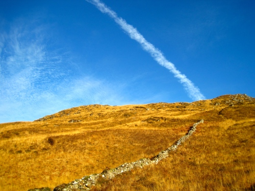 Jet stream above the slopes of Coire na Choinneachean, Knoydart (c) JP Mundy 2012