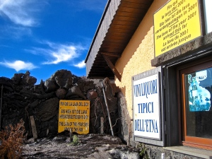 A CLOSE shave for the Mt Etna mountain refugio cafe