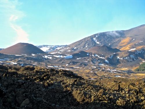 View across Mt Etna lava fields (my son's photo!)