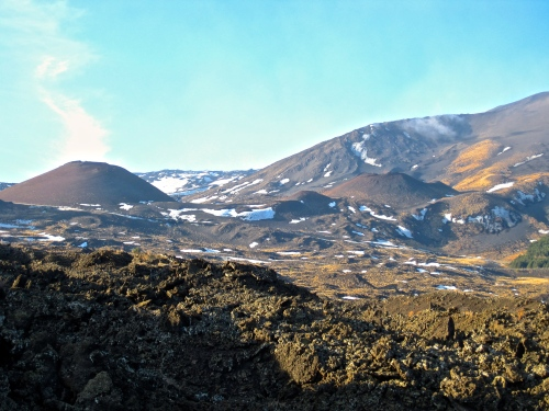 View across Mt Etna lava fields (my son's photo!)