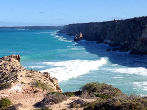 Looking west across the 'bite' of the Great Australian Bight
