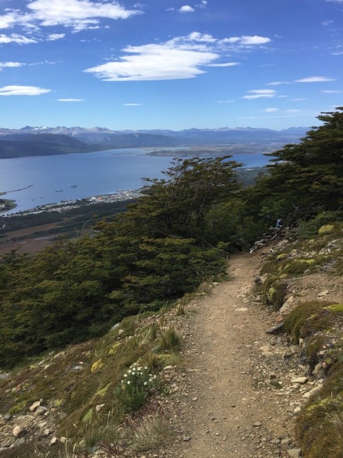 Looking back down to Puerto Williams and across the Beagle Channel