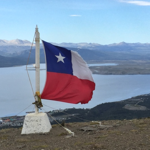 The Chilean navy replace the flag once a year - it's big and it shouts, 'we're here!'
